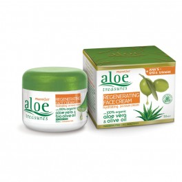 Восстанавливающий крем для лица с AHA, ALOE TREASURES, 50 мл.