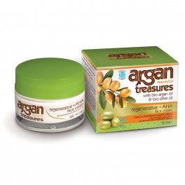 Восстанавливающий крем для лица с AHA, ARGAN TREASURES, 50 мл.